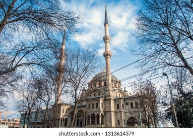 Istanbul, Turkey, 29 January 2019: Nusretiye Mosque, Sultan II Mahmut 1826, Architect Kirkor Balyan, Tophane, Beyoglu district.