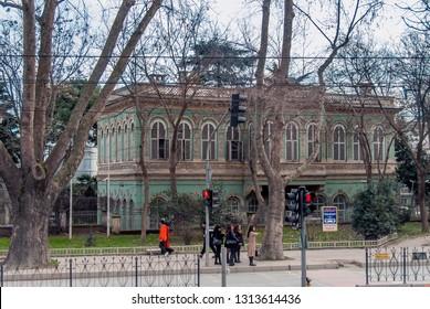 Istanbul, Turkey, 29 January 2019: Tophane Pavilion, Sultan Abdulmecit 1852, Architect William Smith, Tophane, Beyoglu district.