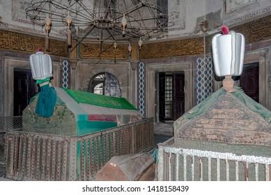 Istanbul, Turkey, 5 May 2006: Tombs of the sleeping sultans, Sultan III Mustafa 1757-1774, Sultan III Selim 1761-1808, Fatih.