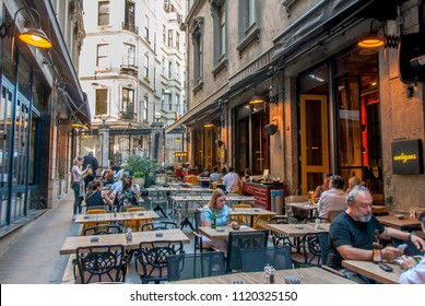 Istanbul, Turkey, 8 June 2018: Tunnel gate, Istiklal Avenue, Beyoglu district of Istanbul.