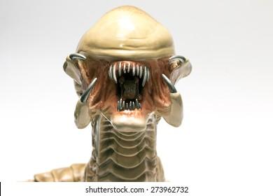 Istanbul, Turkey - April 09, 2015: Alien vs.Predator Hybrid Chestburster Replica by Master Replica's 2004. The original sculpture by Alec Gillis and Tom Woodruff, Jr. of Amalgamated Dynamics Inc.