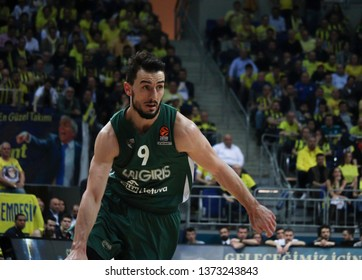 ISTANBUL / TURKEY - APRIL 16, 2019: Leo Westermann during Turkish Airlines EuroLeague 2018-19 Play-Off game 1 Fenerbahce Beko vs Zalgiris Kaunas at Ulker Sports Arena.