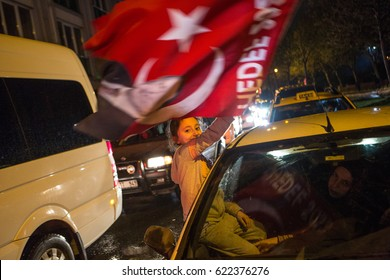 Istanbul, Turkey - April 16: Referendum in Turkey on April 16, 2017 in Istanbul, Turkey.