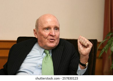 ISTANBUL, TURKEY - APRIL 19: American business executive, author and engineer Jack Welch on April 19, 2008 in Istanbul, Turkey. He was chairman and CEO of General Electric between 1981 and 2001.