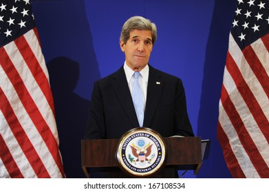 ISTANBUL, TURKEY - APRIL 21: US Secretary of State John Kerry on April 21, 2013 in Istanbul, Turkey.