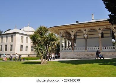 ISTANBUL, TURKEY- APRIL 26, 2013: Topkapi palace in Istanbul