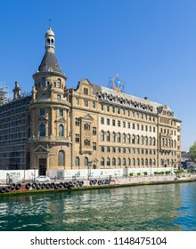 Istanbul, Turkey - April 26, 2017: Haydarpasha Railway Terminal, situated in the Bosphorus, Kadikoy, Istanbul, Turkey, built in 1909 and closed in 2013 due to the rehabilitation of the Marmaray line