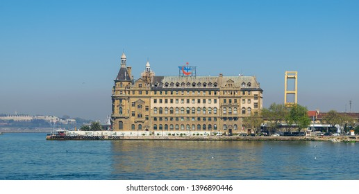 Istanbul, Turkey - April 26 2017: Haydarpasha Railway Terminal, situated in the Bosphorus south of the Port of Haydarpasha, Kadikoy, built in 1909 and closed in 2013