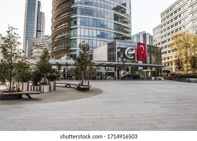 Istanbul Turkey April 26, 2020: Coronavirus (Covid 19) was closed due to an outbreak of shopping centers in Istanbul. Kanyon mall
