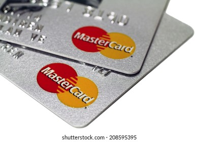 Istanbul, Turkey - August 01, 2014: Mastercard Credit Card Sign Close Up.