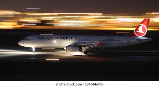 ISTANBUL, TURKEY - AUGUST 05, 2018: Turkish Airlines Airbus A321-231 (CN 3382) takes off from Istanbul Ataturk Airport. THY is the flag carrier of Turkey with 338 fleet size and 300 destinations