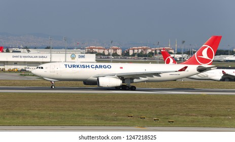 ISTANBUL, TURKEY - AUGUST 05, 2018: Turkish Cargo Airbus A330-243F (CN 1092) takes off from Istanbul Ataturk Airport. THY is the flag carrier of Turkey with 338 fleet size and 300 destinations