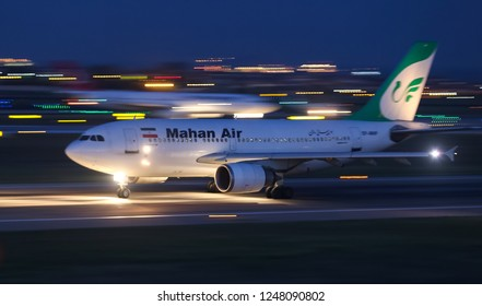 ISTANBUL, TURKEY - AUGUST 05, 2018: Mahan Air Airbus A310-308 (CN 620) takes off from Istanbul Ataturk Airport. Mahan Air has 36 fleet size and 68 destinations