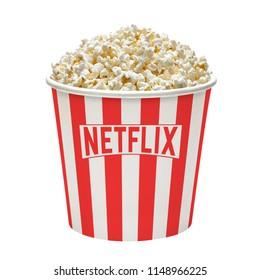 Istanbul / Turkey - August 1, 2018 : Netflix now has about 130 million customers worldwide.
