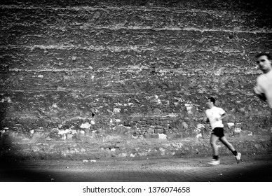 Istanbul, Turkey - August 10, 2007 : A runner who is practising in Besiktas. Besiktas is a Turkish sports club founded in 1903, and based in the Besiktas district of Istanbul.