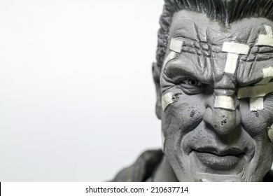 Istanbul, Turkey - August 10, 2014: Marv is a fictional character in the graphic novel series Sin City, created by Frank Miller.  The registered trademark NECA.