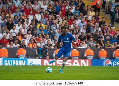 Istanbul, Turkey - August 14, 2019: Tammy Abraham during the UEFA Super Cup Finals  vs Liverpool FC