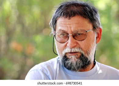 ISTANBUL, TURKEY - AUGUST 16: Famous Turkish mathematician, 'Nesin Foundation' director and 'Nesin Mathematics Village' founder Ali Nesin portrait on August 16, 2008 in Istanbul, Turkey.