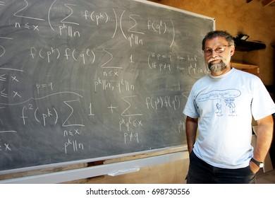 ISTANBUL, TURKEY - AUGUST 16: Famous Turkish mathematician, 'Nesin Foundation' director and 'Nesin Mathematics Village' founder Ali Nesin portrait on August 16, 2008 in Istanbul, Turkey.
