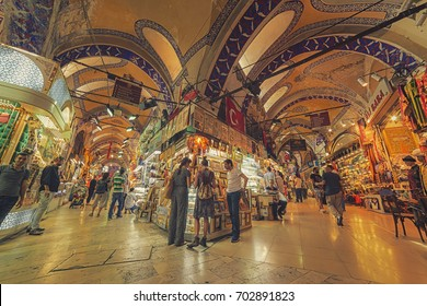 Istanbul, Turkey; August 19, 2017: Daily view from Grand Bazaar of Istanbul