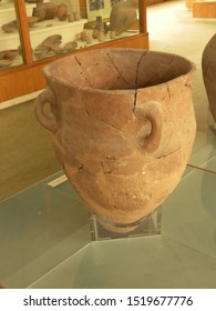 ISTANBUL, TURKEY; August 2010: touristic trip. Travel view of museums Istanbul featuring museum archeologic jar. The image location is Istanbul in Turkey Europe, Europe.