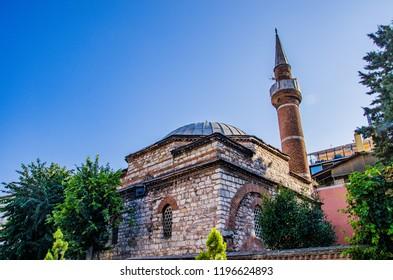 Istanbul - Turkey - August 2018: İshak Paşa Cami mosque.