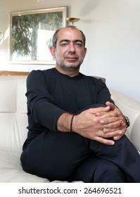ISTANBUL, TURKEY - AUGUST 3: Turkish journalist, columnist and author Umur Talu portrait on August 3, 2005 in Istanbul, Turkey.