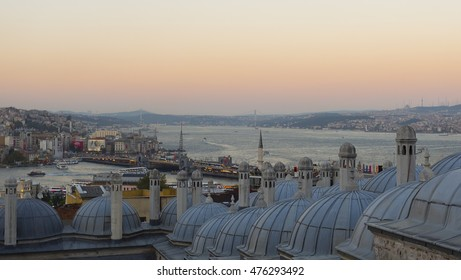ISTANBUL TURKEY ; AUGUST 30, 2016, the dome and Istanbul views