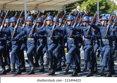 ISTANBUL, TURKEY - AUGUST 30: August 30th Victory Day was celebrated with an official ceremony and military parades at Vatan Street, Istanbul on August 30, 2012 in Istanbul, Turkey.