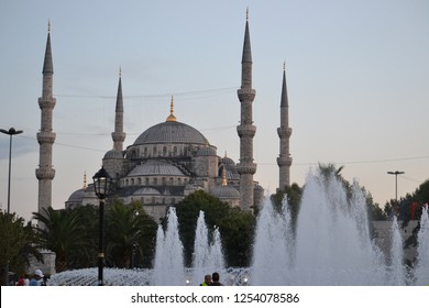 Istanbul, Turkey - August 3rd 2012 : The blue mosque in Istambul