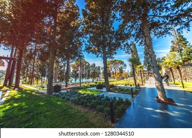 ISTANBUL, TURKEY: Beautiful Mihribat nature park in Beykoz district on October 27, 2018