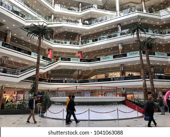 Istanbul, Turkey; Cevahir shopping mall that one of the most busy mall in the center of Istanbul in Turkey.