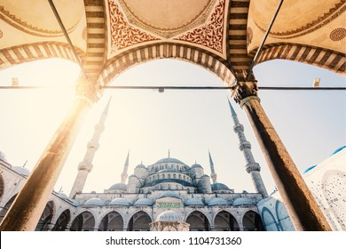 ISTANBUL, TURKEY - CIRCA APRIL, 2018: Blue Mosque view at sunshine.