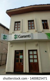 """Istanbul, Turkey- Circa April, 2019: Garanti Bank is the second largest Bank in Turkey. It is the second bank to renew syndicated loan at higher costs to lower roll over ratio this year."""