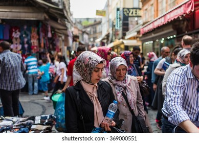 Istanbul, Turkey - Circa May 2015 - in the streets of istanbul