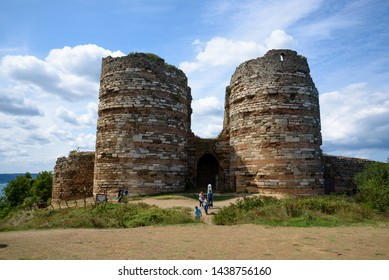 Istanbul, Turkey - Circa September 2017 : Yoros Castle, old ruins of ancient Byzantine castle village of Anadolu Kavagi
