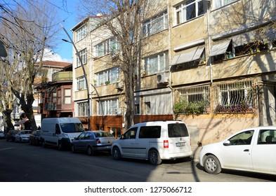ISTANBUL, TURKEY - DEC 28, 2018 -  Kuzguncuk district in Istanbul. Kuzguncuk is a neighborhood in the Üsküdar district on the Asian side of the Bosphorus in Istanbul, Turkey