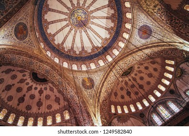 ISTANBUL, TURKEY - DEC 30, 2012: Blue Mosque, Sultan Ahmet Camii, historic landmark at Sultanahmet district