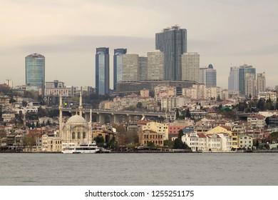 ISTANBUL, TURKEY- DECEMBER 09, 2018: Istanbul Besiktas Sea Side.