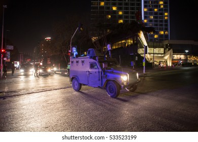 ISTANBUL, TURKEY - DECEMBER 11: A car bomb attack after two explosions were heard outside Besiktas Stadium a few hours after the night's soccer match on December 11, 2016 in Istanbul, Turkey.