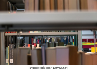 Istanbul / Turkey - December 14, 2018 ; library concept for university or school. books ,table ,chair in the library.