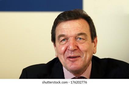 ISTANBUL, TURKEY - DECEMBER 17: German politician Gerhard Schroder portrait on December 17, 2008, Istanbul, Turkey. Gerhard Schroder is Chancellor of Germany from 1998 to 2005.