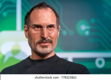 ISTANBUL, TURKEY, DECEMBER 19, 2017: Wax sculpture of Steve Jobs at Madame Tussauds Istanbul. Steve Jobs  who died on October 5, 2011 was the CEO and co-founder of Apple Inc.