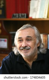 ISTANBUL, TURKEY  DECEMBER 21: Famous Turkish actor, director, thespian, television series star and comedian Mujdat Gezen portrait on December 21, 2007 in Istanbul, Turkey.