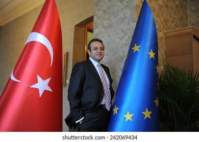 ISTANBUL, TURKEY - FEBRUARY  13: Turkish politician, Egemen Bagis portrait on February 13, 2011 in Istanbul, Turkey.