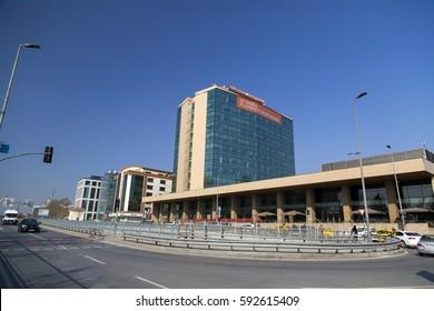 Istanbul, Turkey - February 18, 2017: Florence Nightingale Hospital in Caglayan, Istanbul on Fbruary 18, 2017