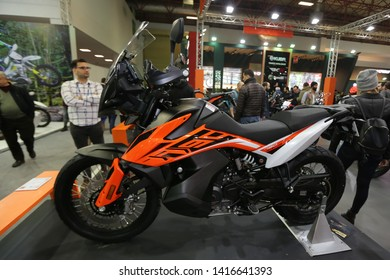 ISTANBUL, TURKEY - FEBRUARY 23, 2019: KTM 790 on display at Motobike Istanbul in Istanbul Exhibition Center