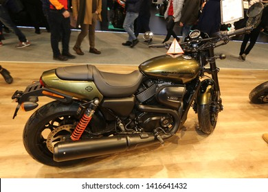 ISTANBUL, TURKEY - FEBRUARY 23, 2019: Harley-Davidson Street 750 on display at Motobike Istanbul in Istanbul Exhibition Center