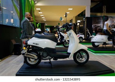 ISTANBUL, TURKEY - FEBRUARY 24, 2019: Vota RS1 on display at Motobike Istanbul in Istanbul Exhibition Center
