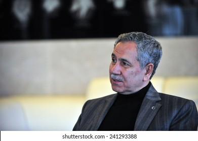 ISTANBUL, TURKEY - FEBRUARY  25: Turkish  politician,  Bulent Arinc  portrait on February  25, 2012 in Istanbul, Turkey.